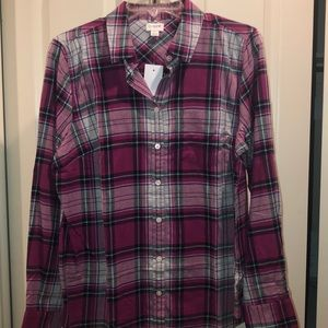 NWT pink and navy flannel